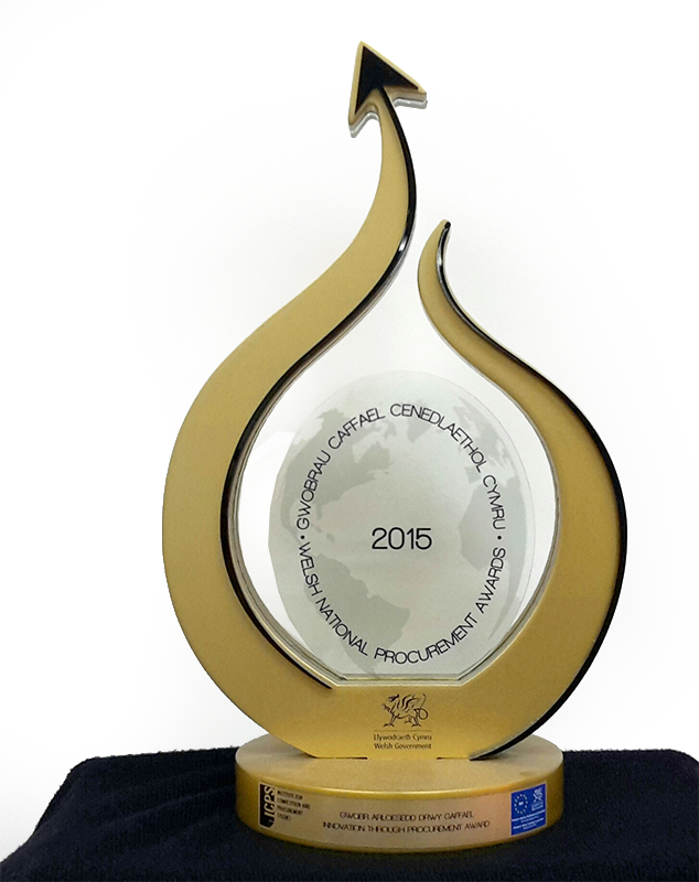 Atebion won at the Welsh National Procurement Awards in 2015
