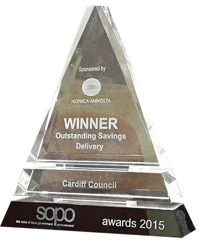 Atebion Solutions award for Outstanding delivery services in the SOPO Awards 2015